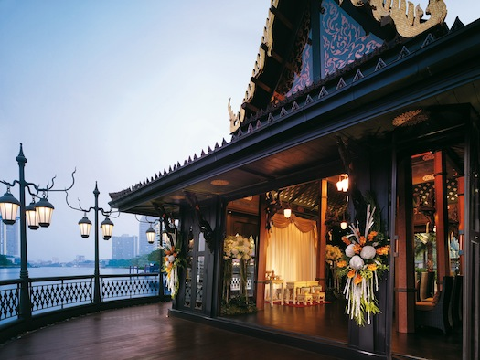 wedding reception at Salathip restaurant, Shangri La Bangkok