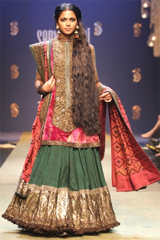 Sabyasachi Mukherjee design for Nina Manuel