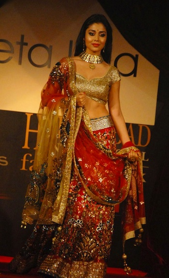 Shriya Saran for Neeta Lulla