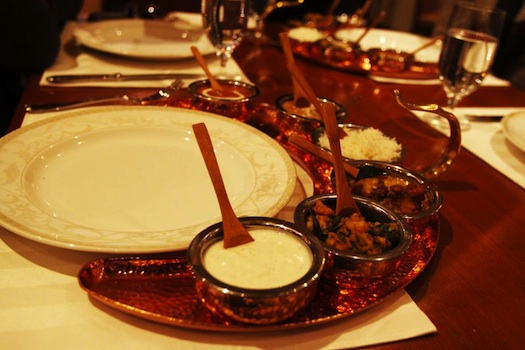 food served at Indian wedding