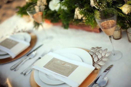 rustic wedding reception place setting