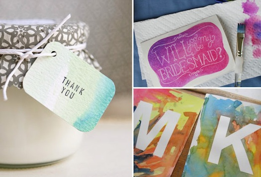 water color giveaways & favors