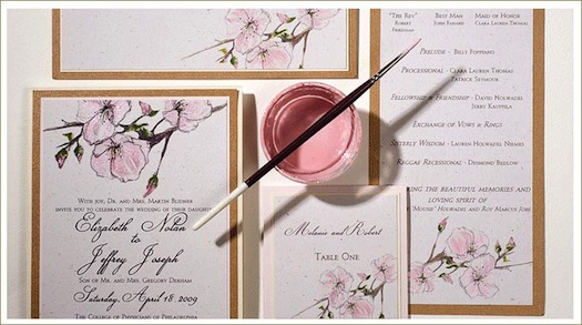 water color painted invites