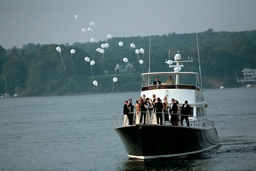 wedding party on a cruise