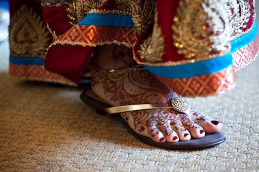 Indian footwear for beach wedding