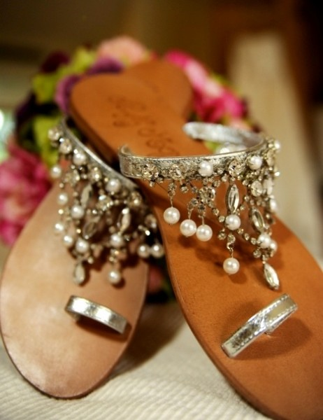 Indian wedding footwear for beach wedding