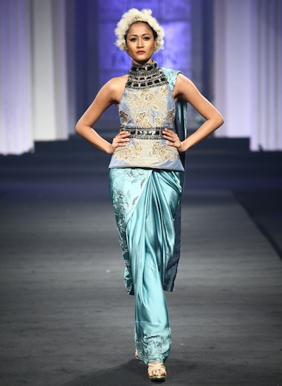 Surelee Joseph walks the ramp for Narendra Kumar