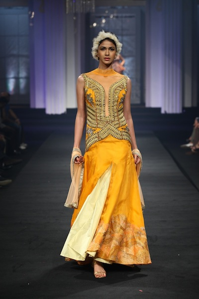 Narendra Kumar lehenga at bridal week 2012