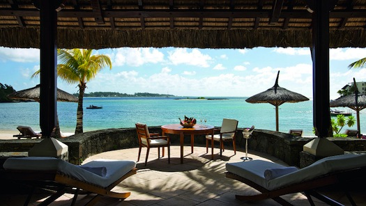 view from the Suite at Le Touessrok, Mauritius
