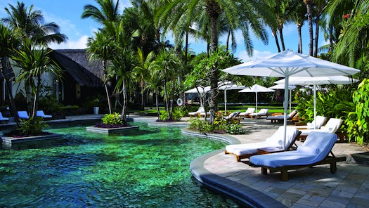 pool side of le touessrok mauritius