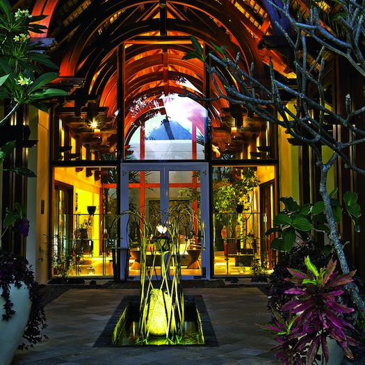 Spa Entrance of Le Touessrok, Mauritius