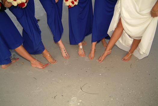 jewellery for foot : beach wedding