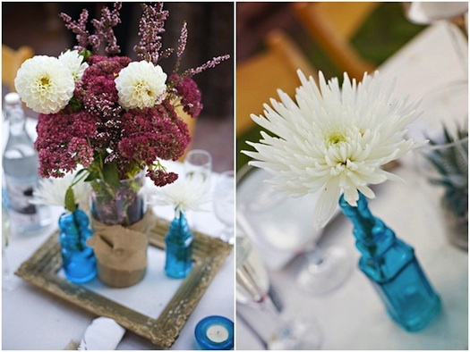 unique floral centre pieces wedding