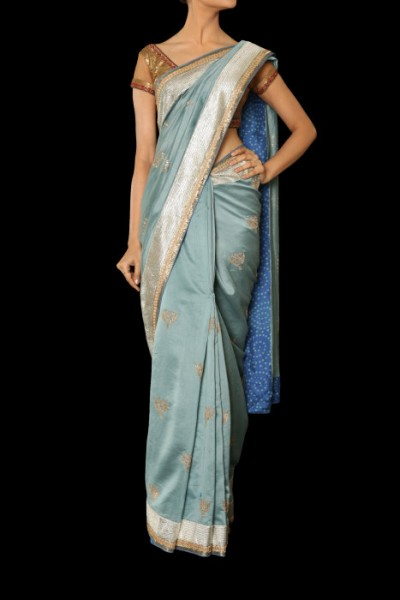 A chanderi sari for weddings