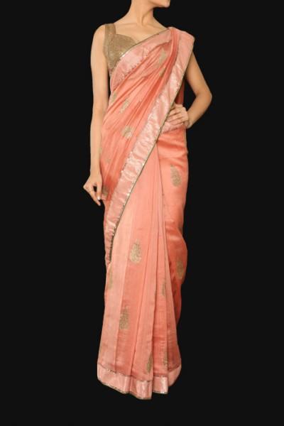 A chanderi sari for Indian weddings