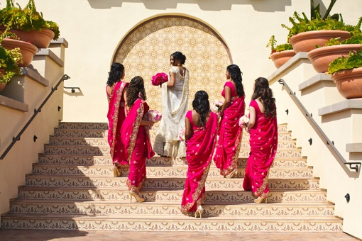 Indian bridesmaids at wedding in India