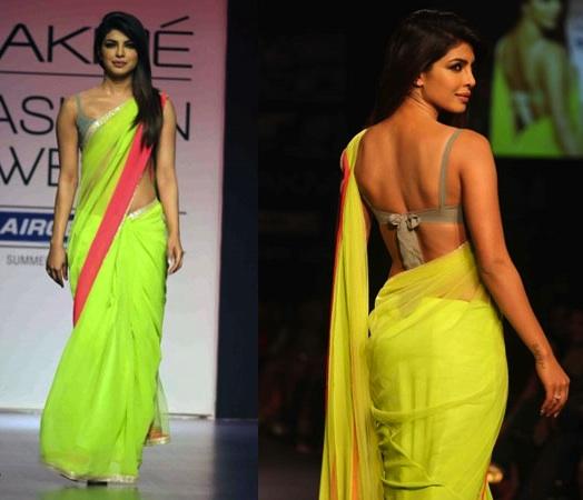 Priyanka Chopa bridal look at Lakme Fashion week