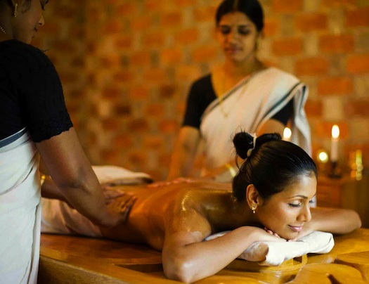 ayurvedic massage on honeymoon in kerala