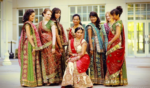 bridesmaids at Indian wedding in Goa