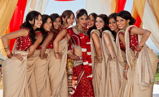 bridesmaids for Indian wedding