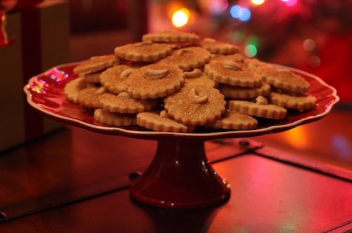 cashew cookies served at Indian wedding