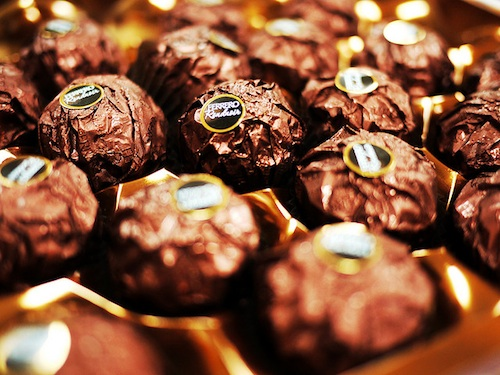 chocolates served at Indian wedding