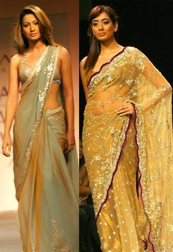 gold bridal saree design