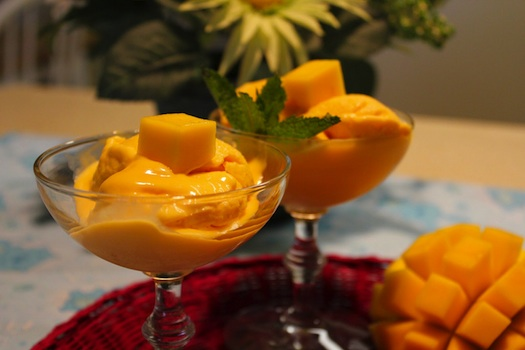 mango served at Indian wedding