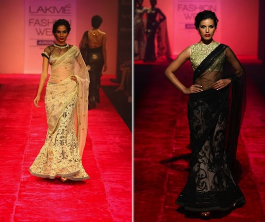 models on the ramp for Lakme Fashion week 2013