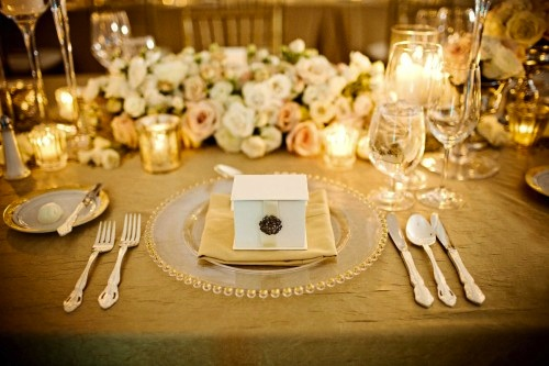 pearl themed wedding reception