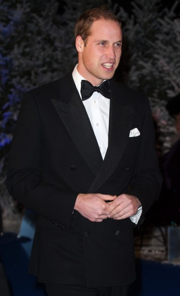 prince william dressed in a tuxedo