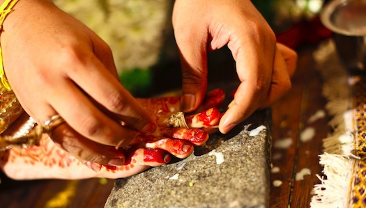 real Indian wedding jewelery