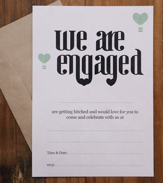 simple engagment letter by Marry Me Weddings