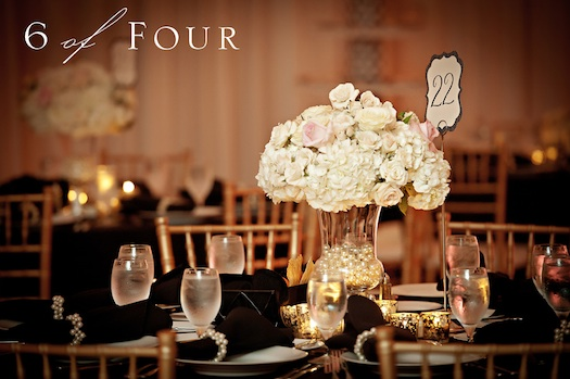 use of pearls in centre pieces for wedding