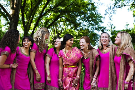wedding in India bridesmaids dresses