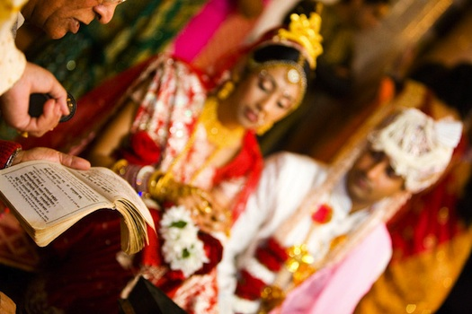 bengali couple getting married