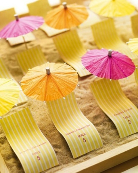 parasols used for table names