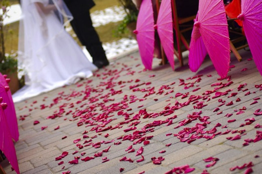 parasols used for wedding decor