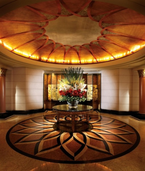 Lobby of Four Seasons Singapore